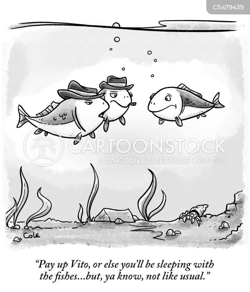 sleeping with the fishes cartoon