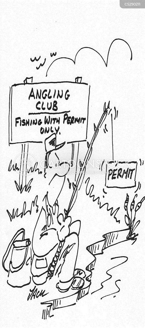 fishing permit cartoon
