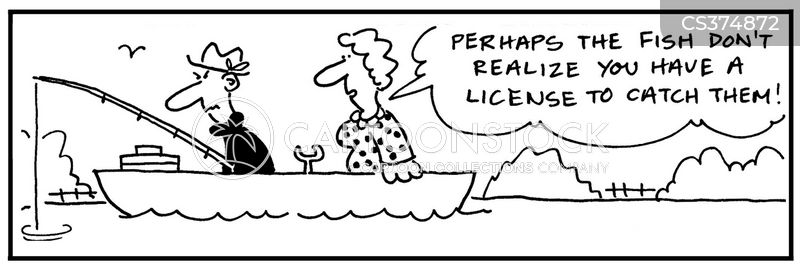 Fishing license cartoons and comics funny pictures from for Get a fishing license