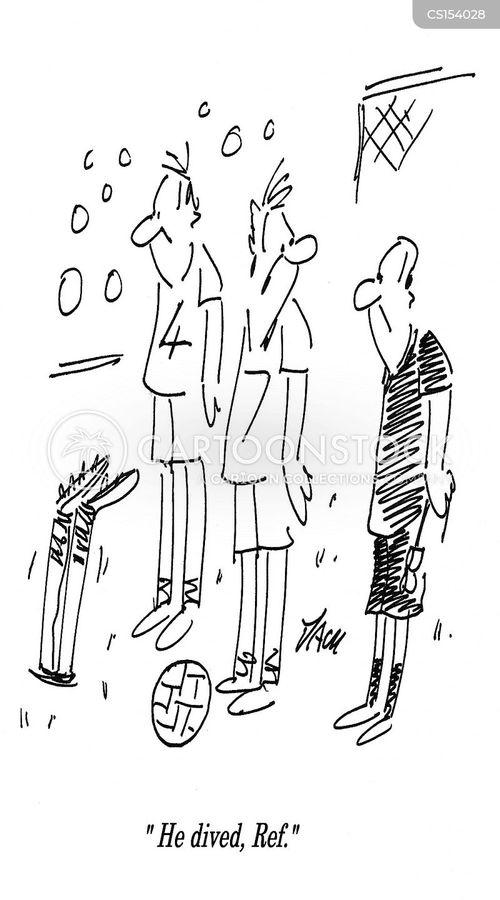 sport cheat cartoon