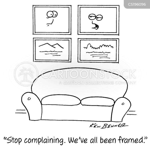 framed photos cartoon