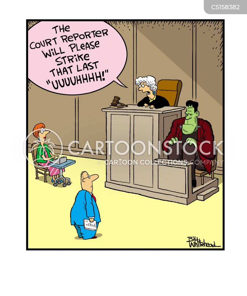 court reporters cartoon