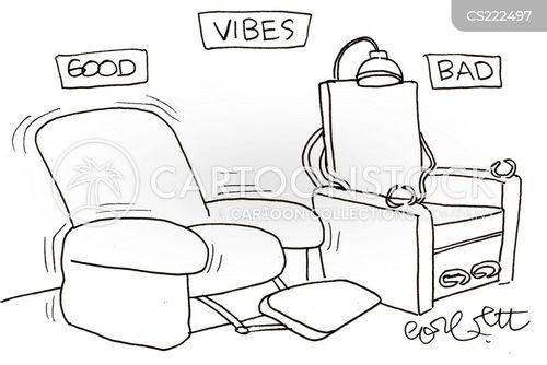 reclining chair cartoon