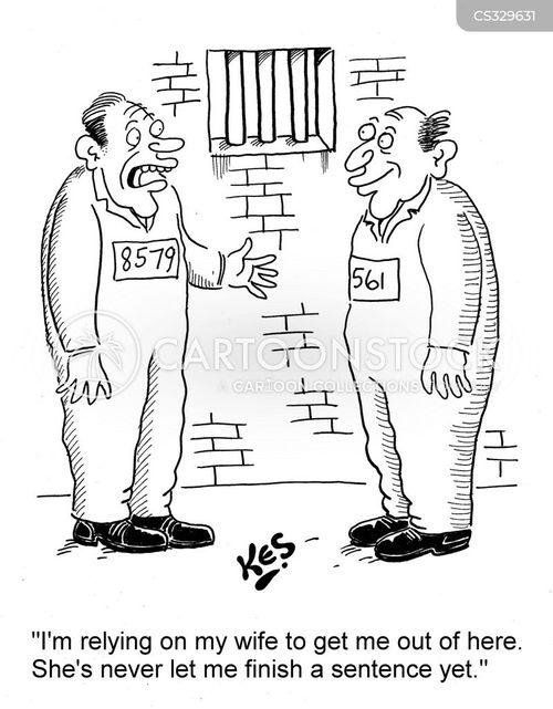 custodial sentence cartoon