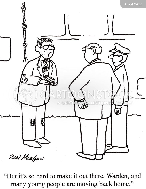 jailing cartoon