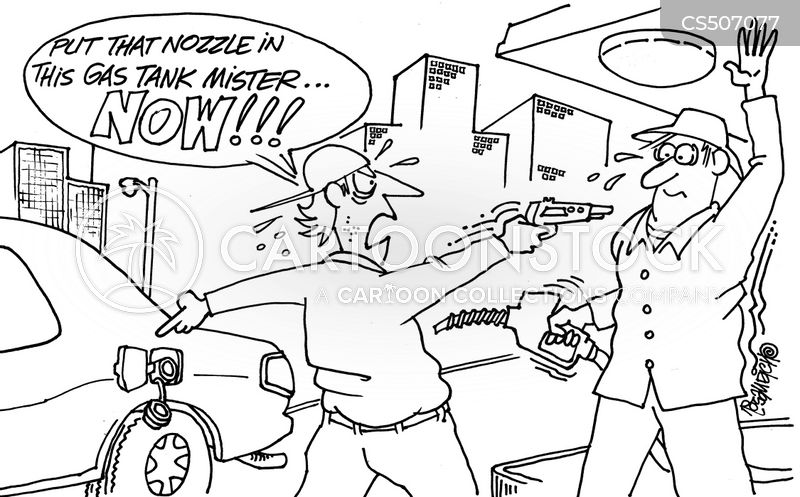 gas tanks cartoon