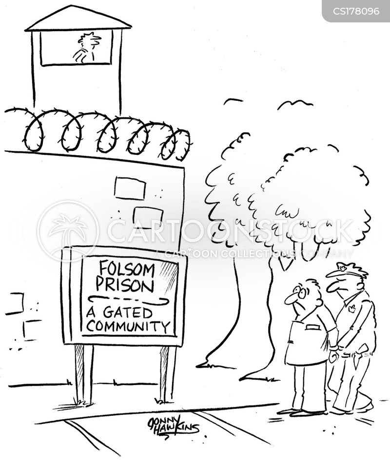 gated community cartoon