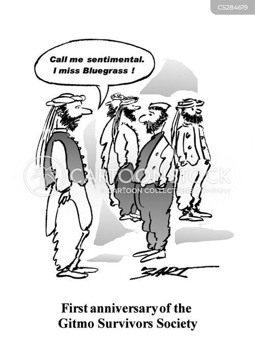detention camp cartoon