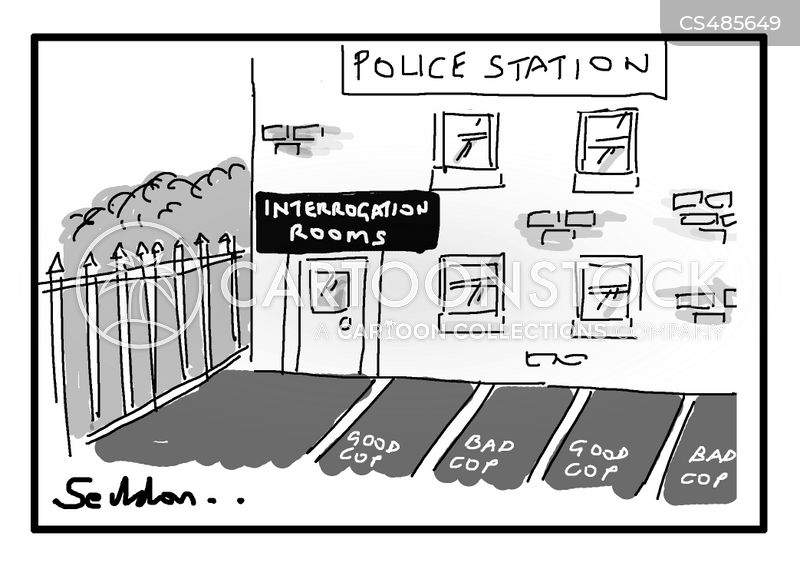 police cell cartoon