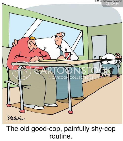 police questioning cartoon