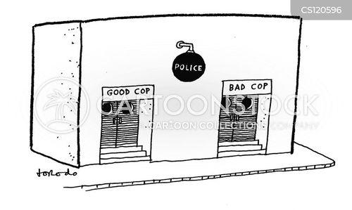 police tactics cartoon