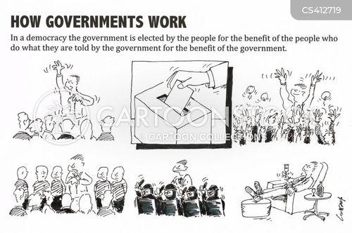 ballot boxes cartoon