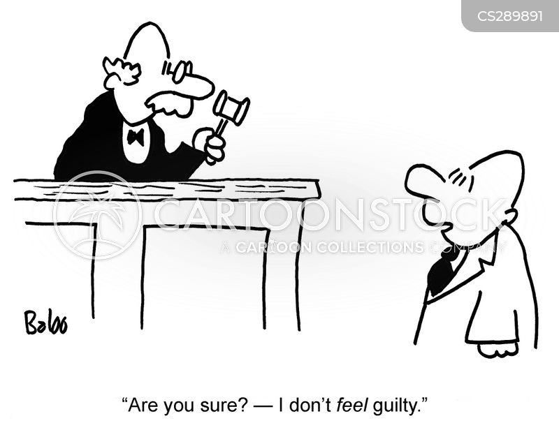 guilty feeling cartoon