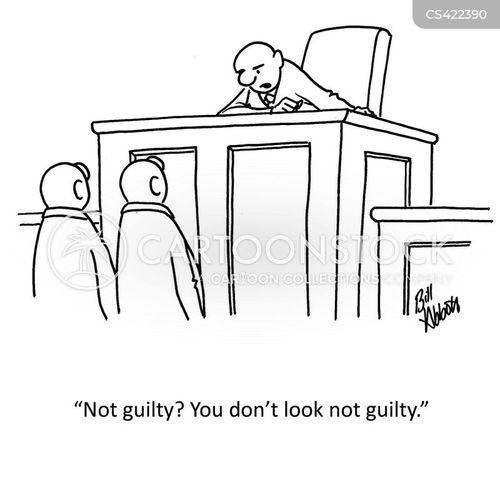not guilty plea cartoon