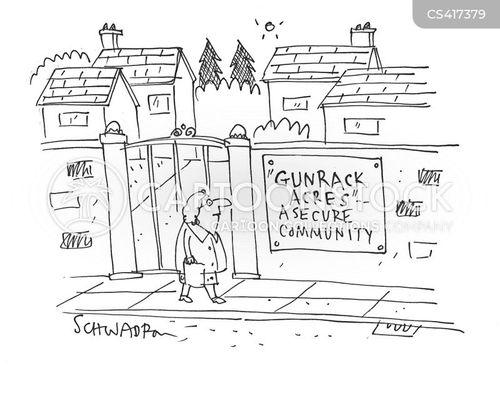 safe neighbourhoods cartoon