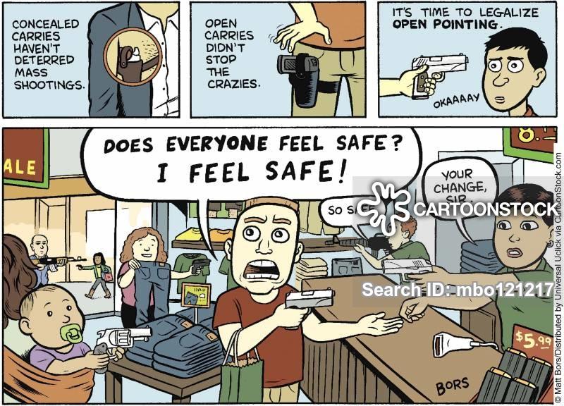 gun debates cartoons and comics funny pictures from cartoonstock