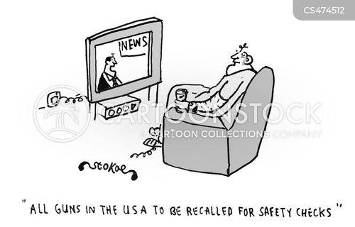 gun safety cartoon