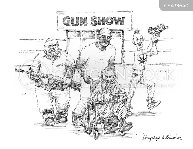 gun dealers cartoon