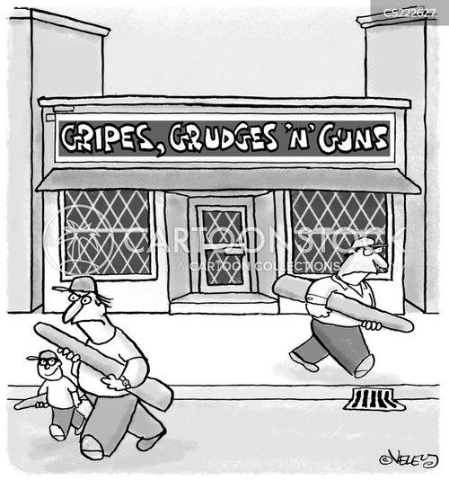 handguns cartoon