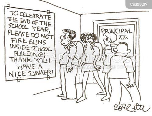 violence in school cartoon