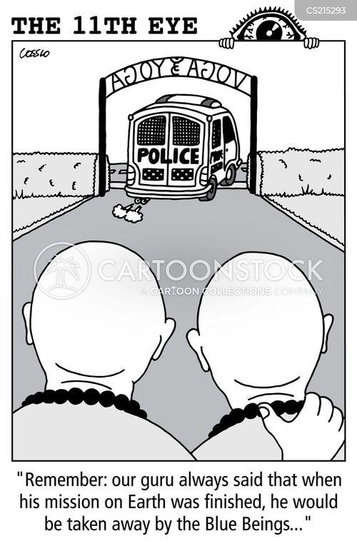 being arrested cartoon