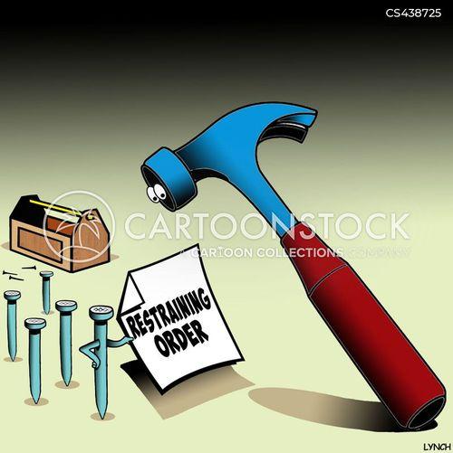 court order cartoon