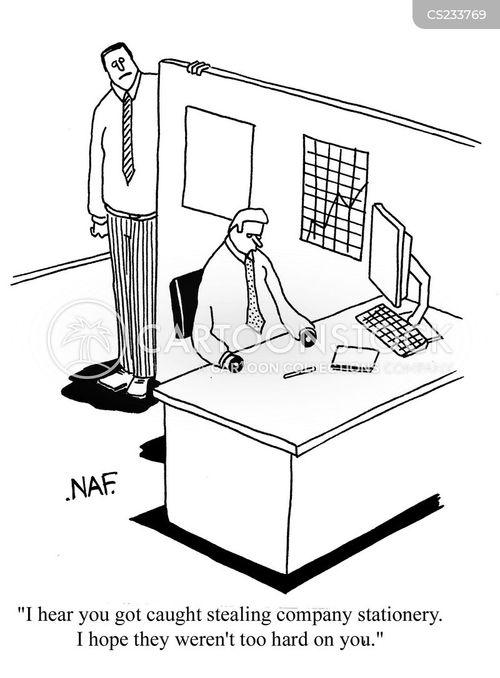 office stationery cartoon