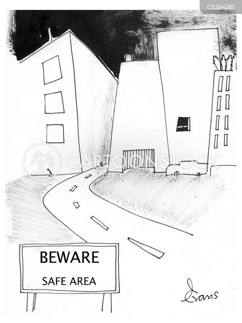 safe danger cartoon