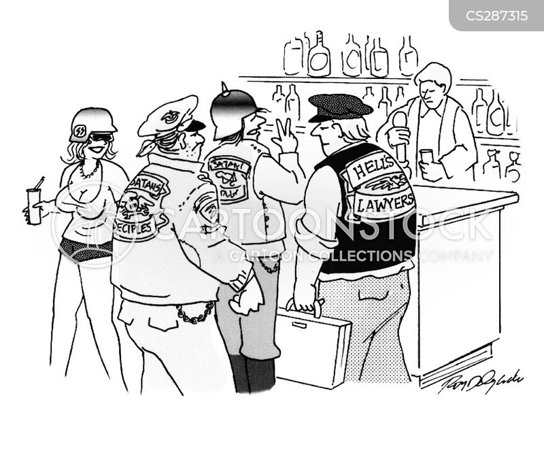 biker gang cartoon