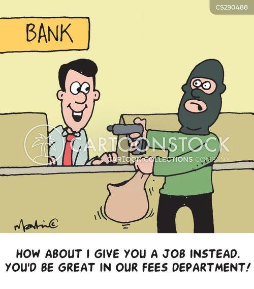bank fees cartoon