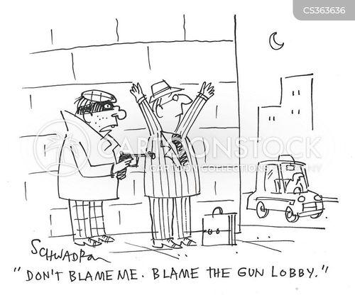 gun politics cartoon