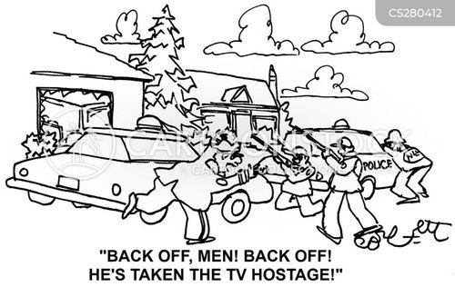 standoffs cartoon