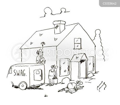 b&e cartoon