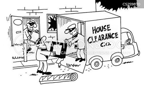 house clearances cartoon