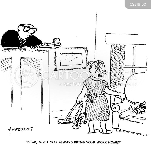 career driven cartoon