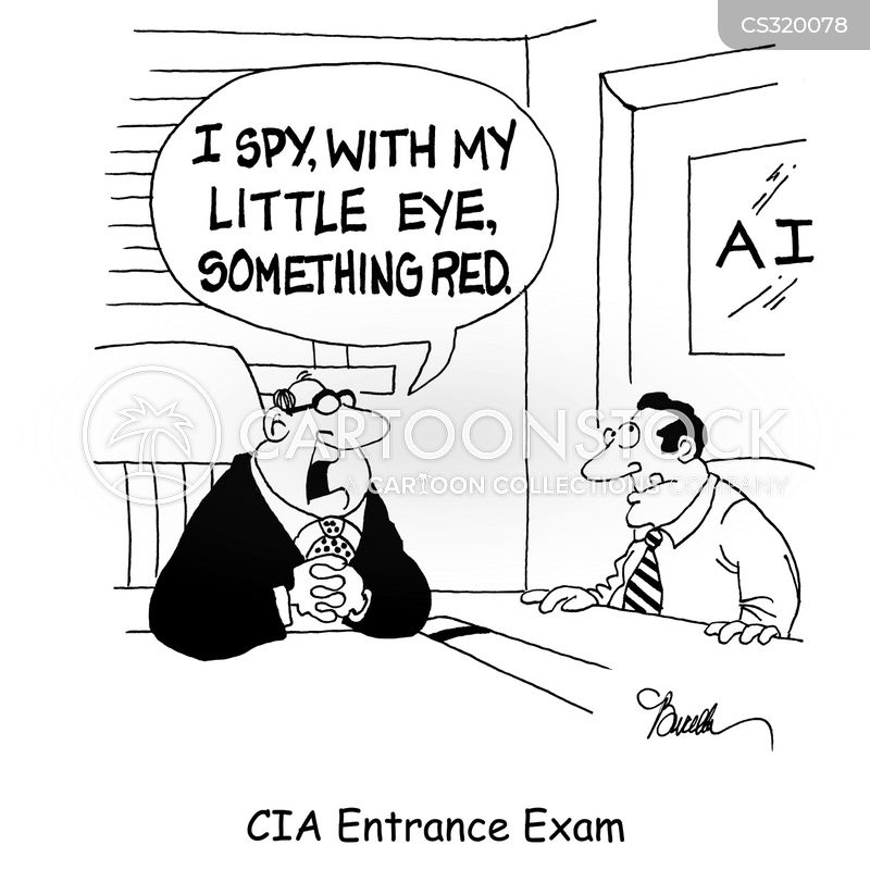 entrance exam cartoon