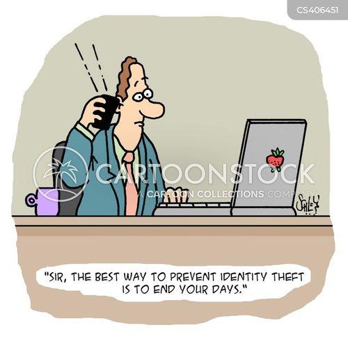 identity fraud cartoon