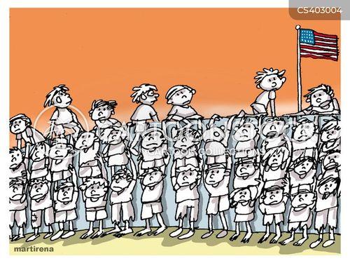 child immigrant cartoon
