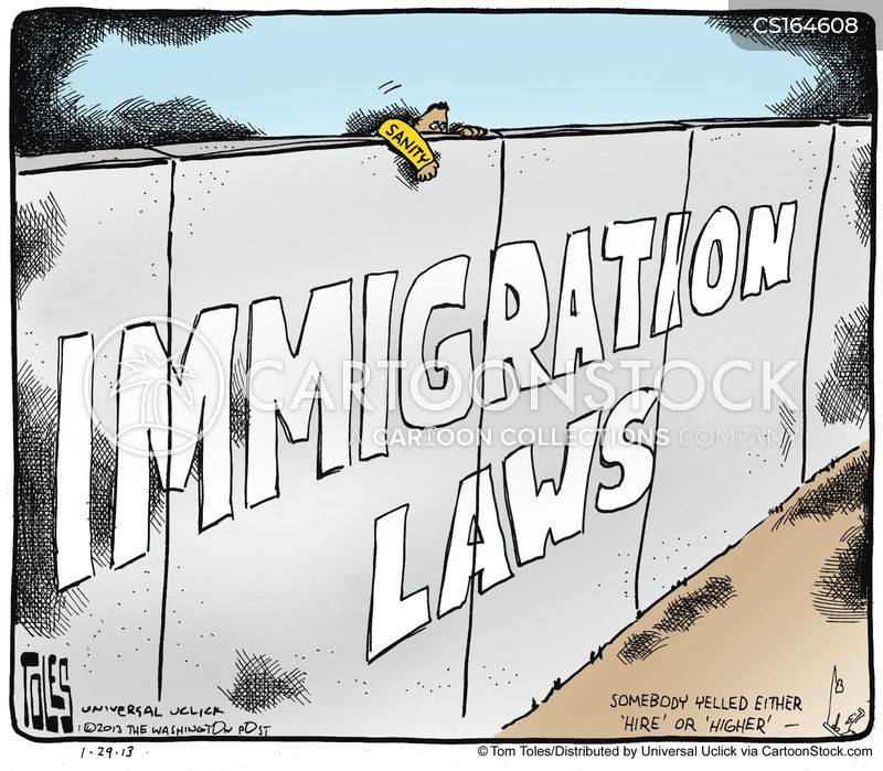 immigration policy cartoon