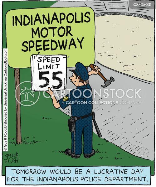 motor speedway cartoon