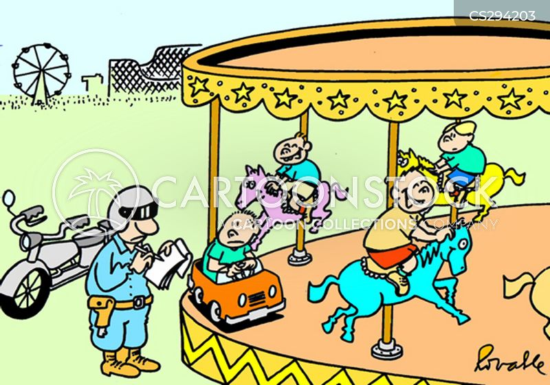 merry-go-round cartoon