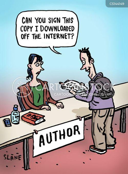 e books cartoon
