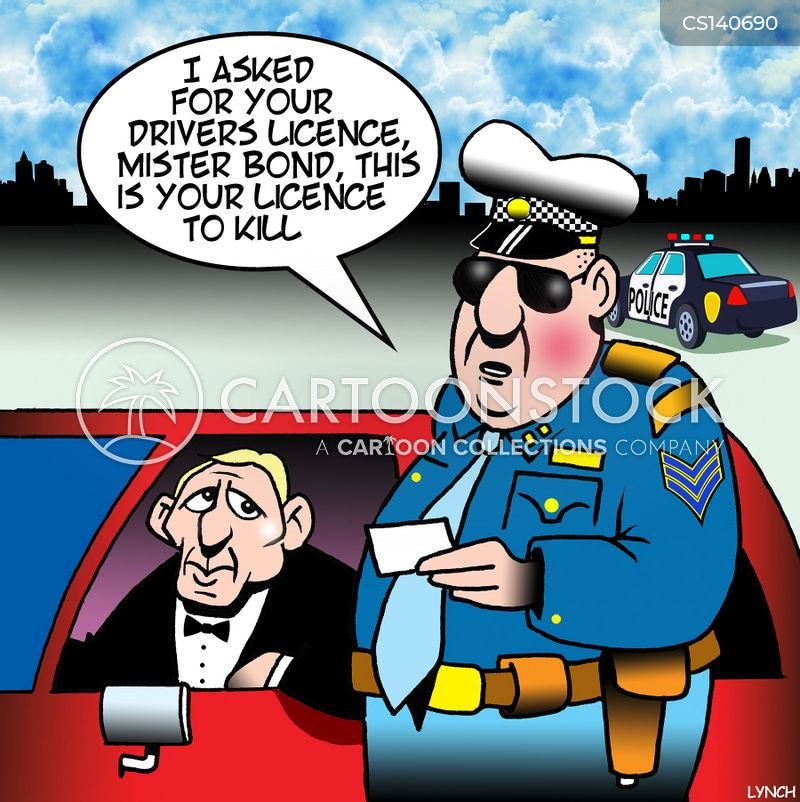 speed tickets cartoon