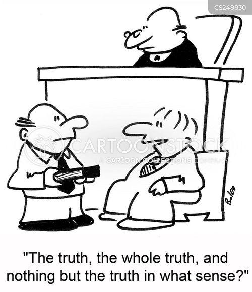 whole truth cartoon