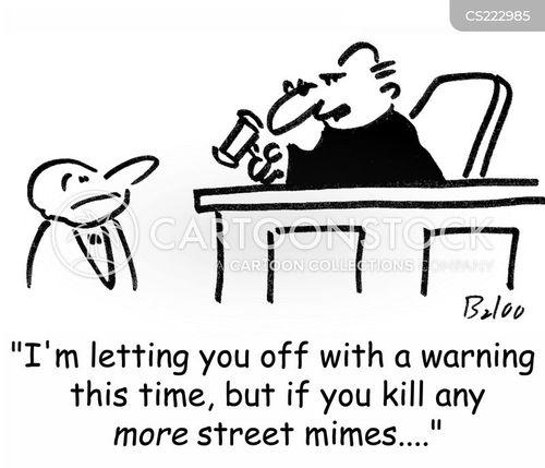 street mime cartoon