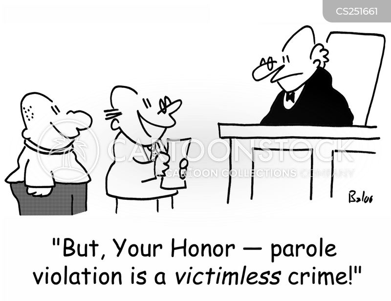 parole violation cartoon