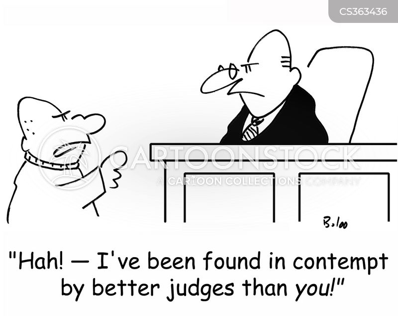 Contempt Of Court Cartoons and Comics - funny pictures from CartoonStock