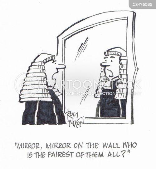 legal judgement cartoon
