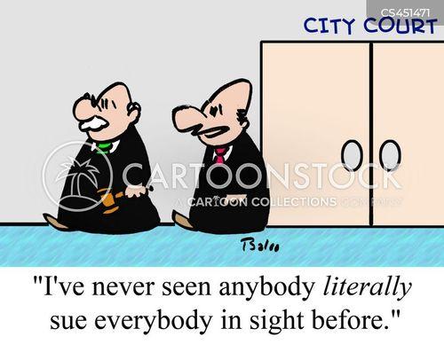 city court cartoon