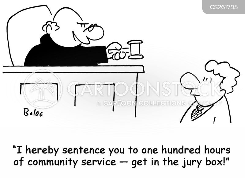 jury boxes cartoon